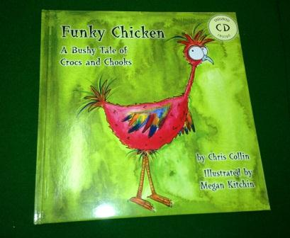 Students enjoy Chris Collin's Funky Chicken story